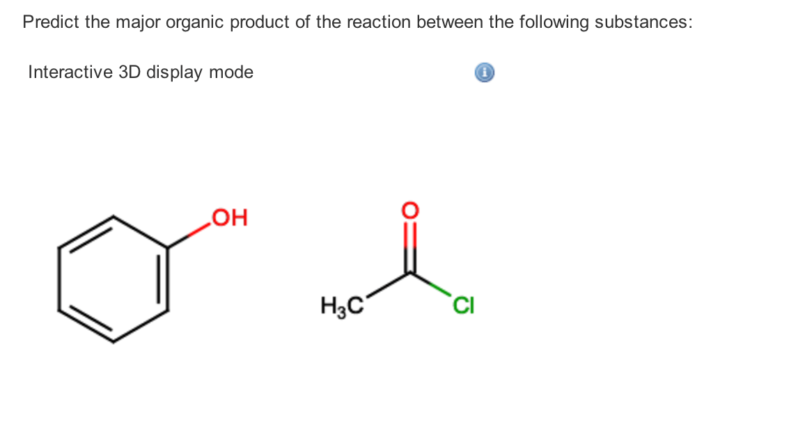 Solved: Predict The Major Organic Product Of The Reaction