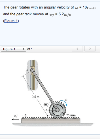 Solved: The Gear Rotates With An Angular Velocity Of Omega