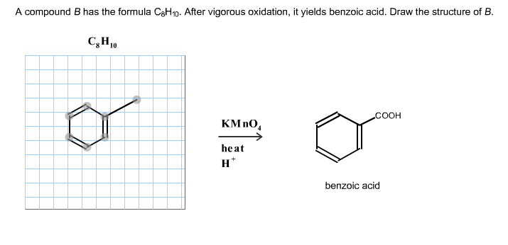 Solved: A Compound B Has The Formula C8H10. After Vigorous