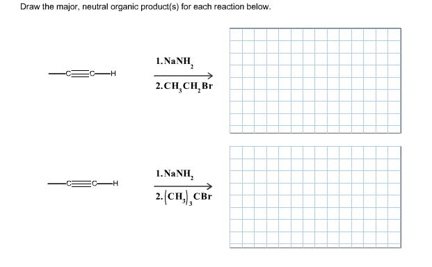 Solved: Draw The Major, Neutral Organic Product (s) For Ea