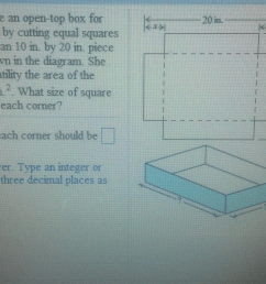 a lady wants to make an open top box for packing b [ 1598 x 901 Pixel ]