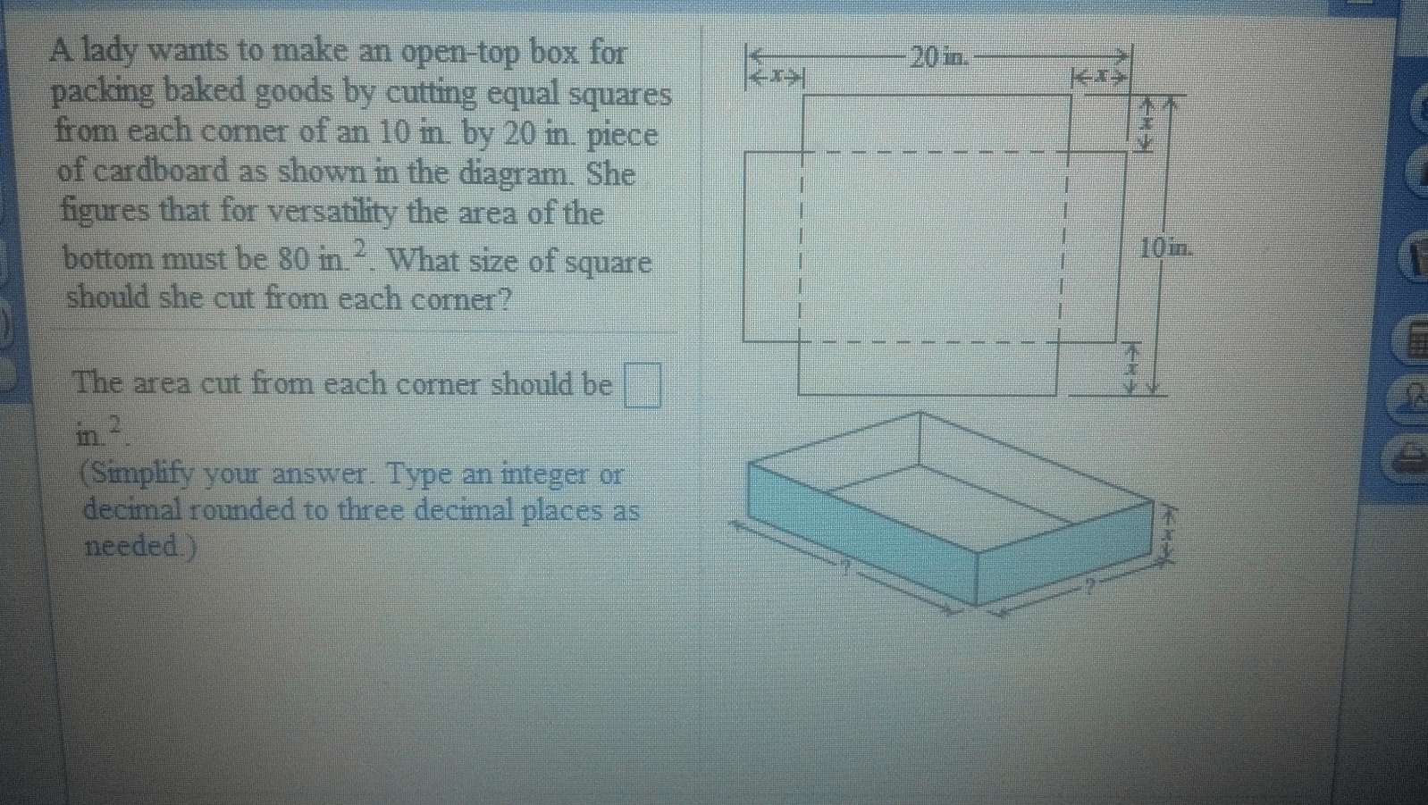 hight resolution of a lady wants to make an open top box for packing b