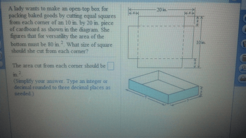 small resolution of a lady wants to make an open top box for packing b