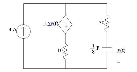 Solved: Determine An Expression For V(t) For T>=0 If V(0