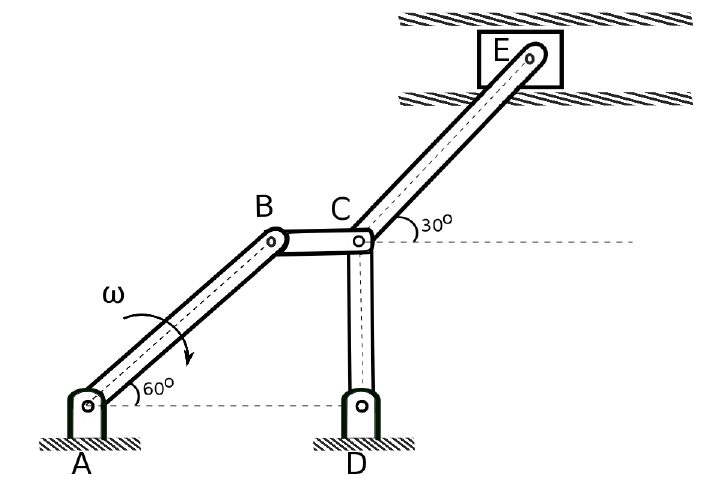Solved: A 5 Bar Mechanism Is Shown In The Figure Below. If