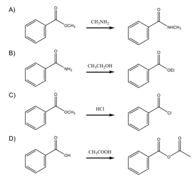 Solved: Which Of The Following Reactions Is Favorable, In