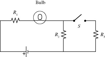 Solved: A Light Bulb Is Connected In The Circuit Shown In