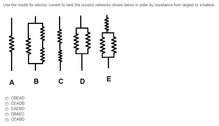 Solved: Use The Model For Electric Current To Rank The Res