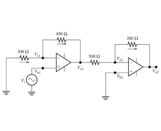 Solved: Part A: Determine The Output Voltage Of The First
