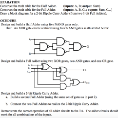 Block Diagram Of Half Adder Noco Battery Isolator Wiring Solved Construct The Truth Table For Inp