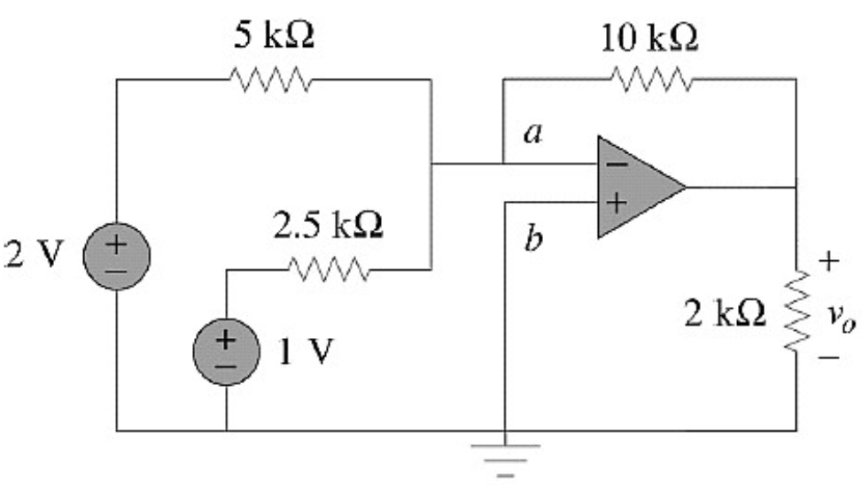 Solved: For The Given Op-amp Circuit, Calculate The Output