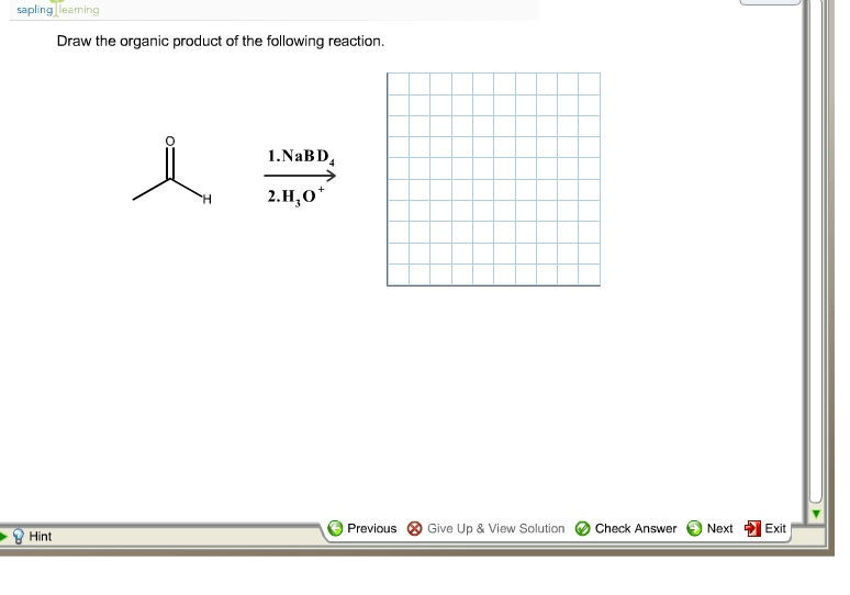 Predict The Organic Product For The Following Reac