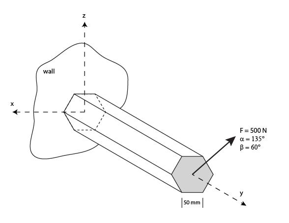 Solved: A 2 Meter-long Uniform Hexagonal Cantilever Beam M