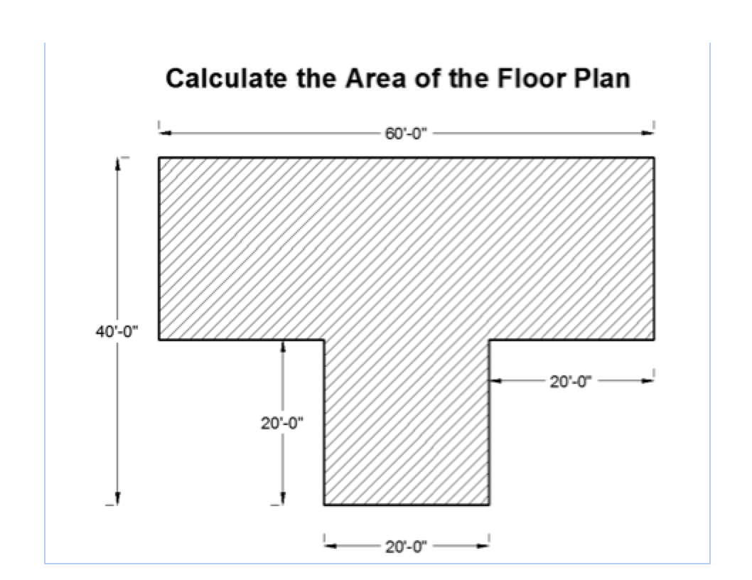 Solved Calculate The Perimeter Of The Floor Plan