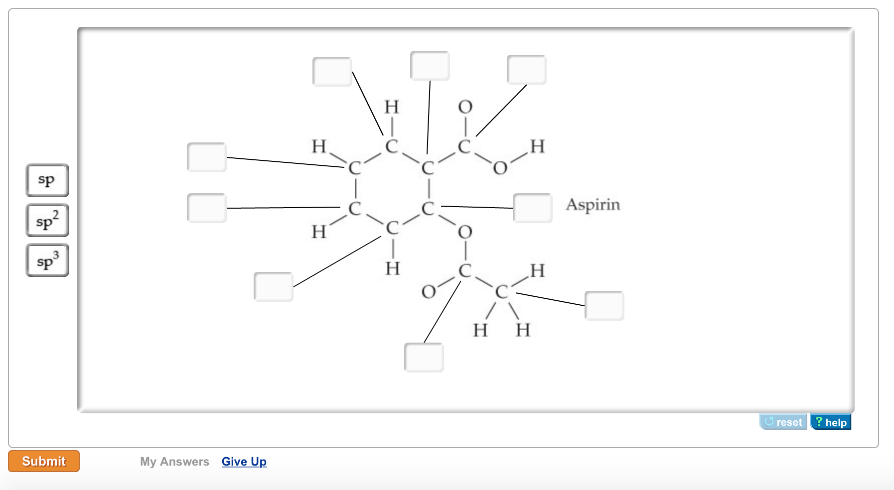 electron dot diagram for ca hunter sailboat rigging solved part a aspirin has the following connections among