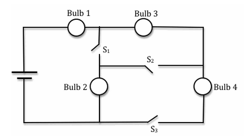 Solved: In The Circuit Shown Below The 4 Bulbs Are Identic