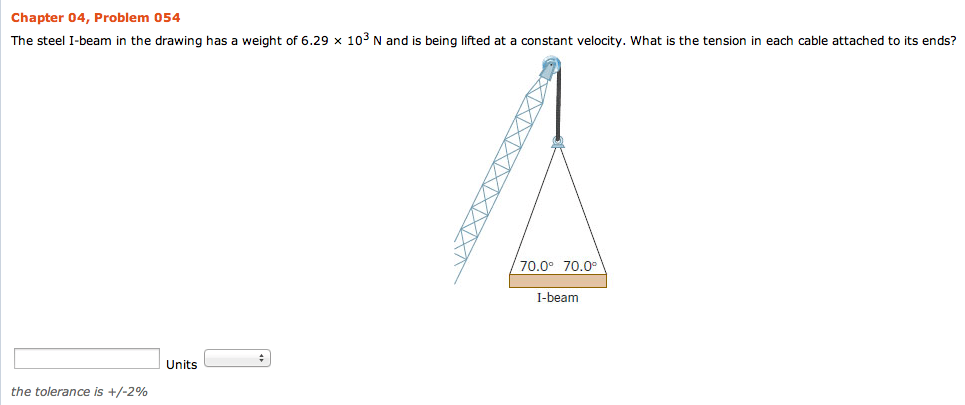 The Steel I-beam In The Drawing Has A Weight Of 6