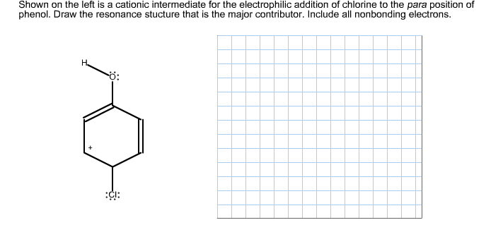 Solved: Shown On The Left Is A Cationic Intermediate For T