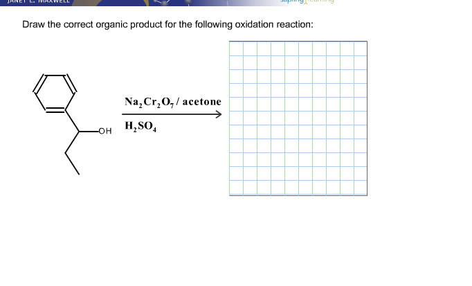 Solved: Draw The Correct Organic Product For The Following