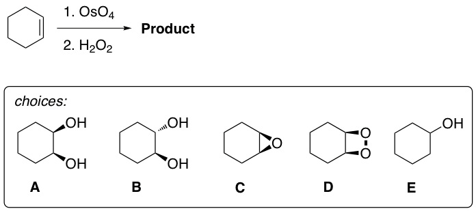 Solved: What Is The Major Product From This Reaction