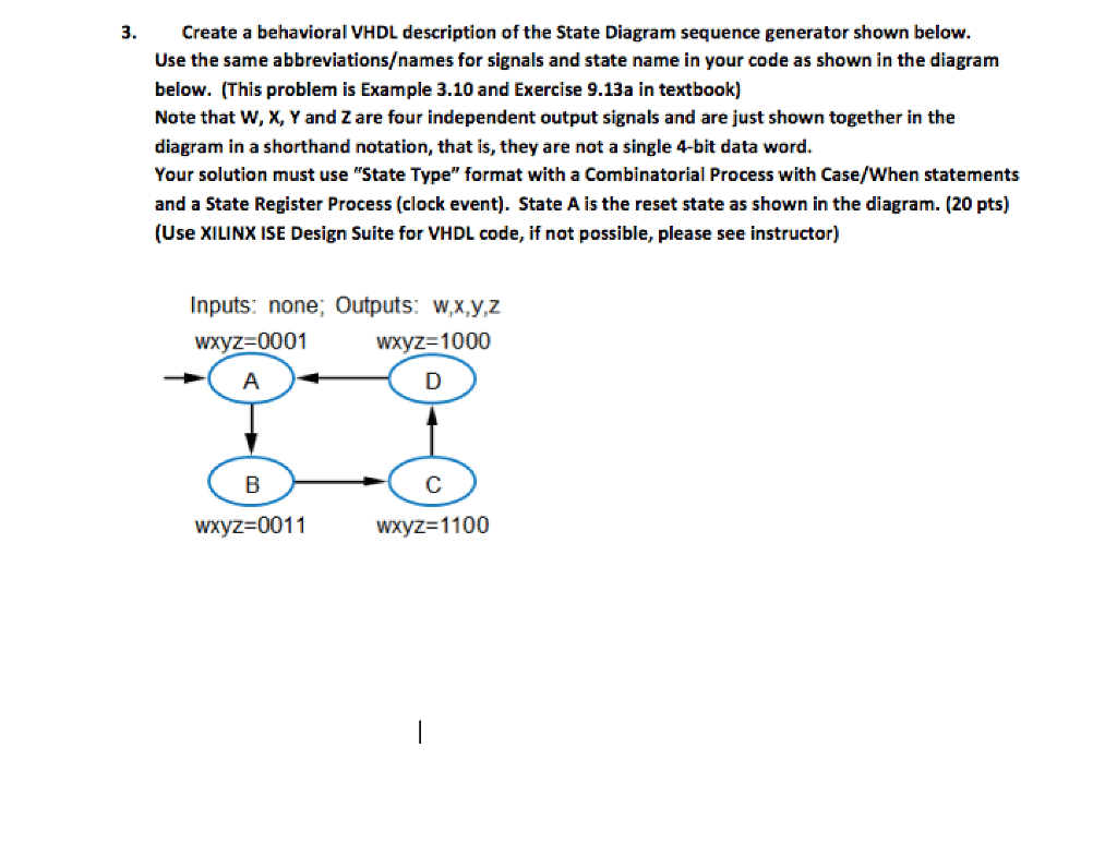 sequence diagram questions and answers apple home network setup solved 3 create a behavioral vhdl description of the stat