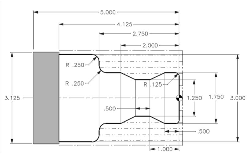 6. Write A Complete CNC Lathe Program For The Enti