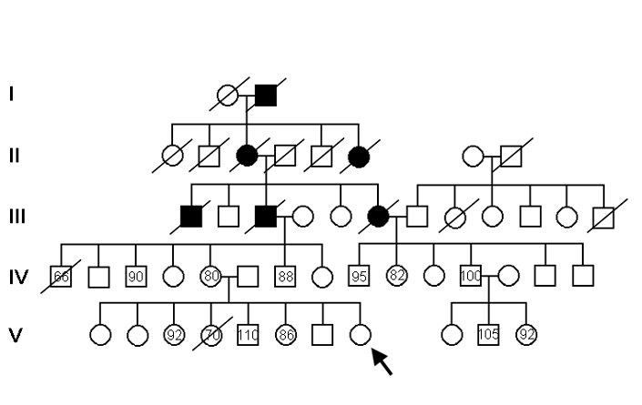 Solved: This Pedigree Is For The Trait Of Low Blood Pressu