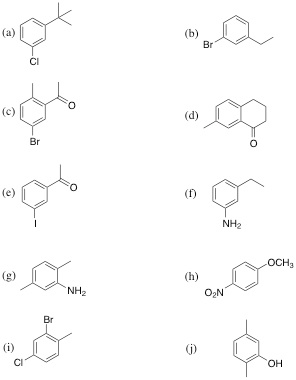 Solved: Synthesize Each Compound From Benzene Nad Any Othe