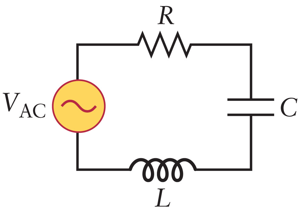 Solved: The LCR Circuit In The Figure Is Driven By A Volta