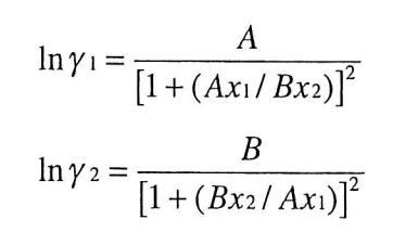 Solved: The Van Laar Equations Are Commonly Used To Predic