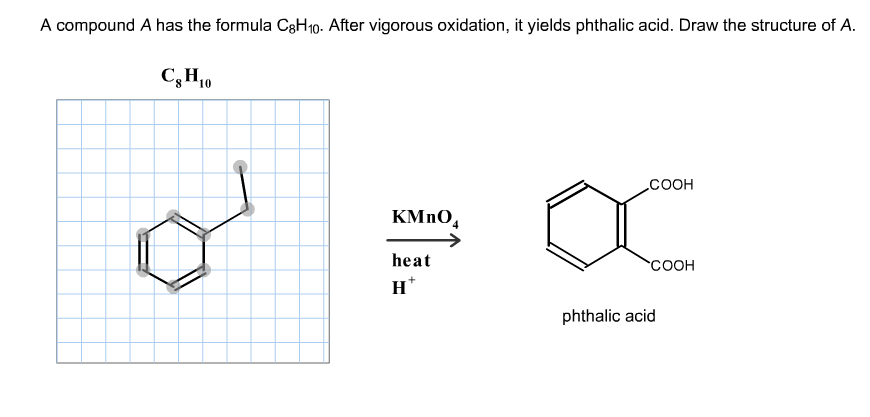 Solved: A Compound A Has The Formula C8H10. After Vigorous