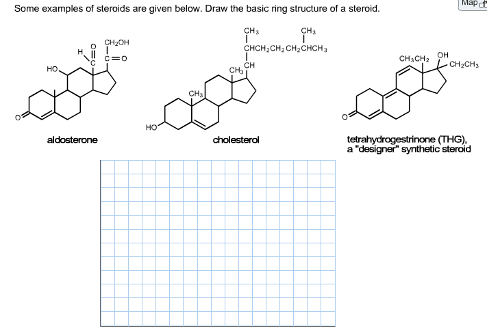 Solved: Some Examples Of Steroids Are Given Below. Draw Th