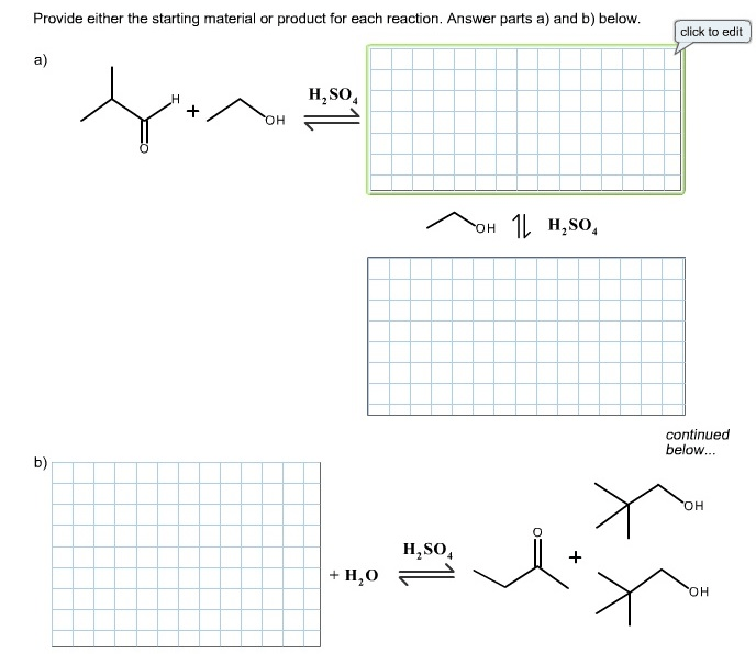 Solved: Provide Either The Starting Material Or Product Fo