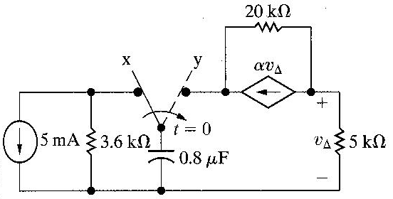 Solved: The Switch In The Circuit Seen In Figure 2 Has Bee