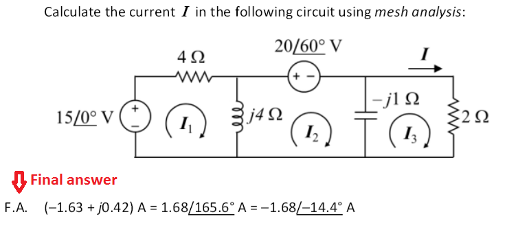 Solved: Calculate The Current I In The Following Circuit U