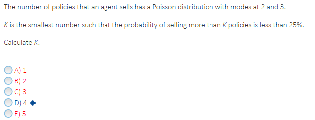 Solved: The Number Of Policies That An Agent Sells Has A P