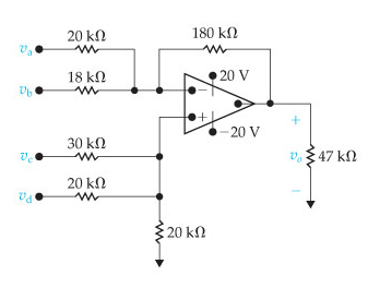 Solved: The Op Amp In The Adder-subtracter Circuit Shown I