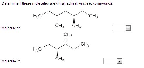 Solved: Determine If These Molecules Are Chiral, Achiral