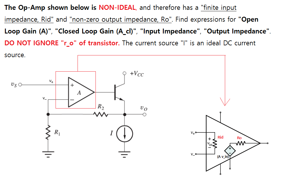 Solved: For This Circuit With Non-ideal Op-amp, Determine