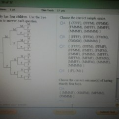 What Is A Sample Space Diagram Ford 8n Electronic Ignition Wiring Solved This Question 1 Pt Test 37 Pts Family Has