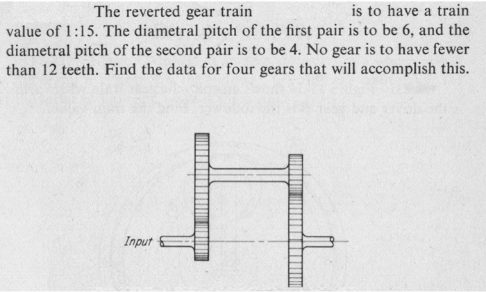Solved: The Reverted Gear Train Is To Have A Train Value O
