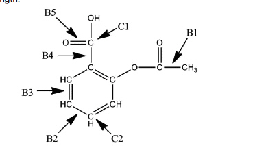 Solved: A Lewis Structure Of Aspirin Without The Nonbondin