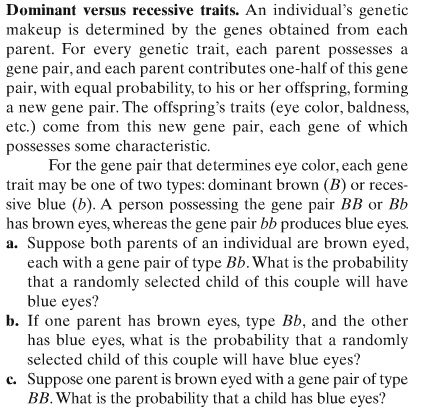Solved: Dominant Versus Recessive Traits. An Individual's