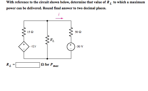 Solved: With Reference To The Circuit Shown Below, Determi