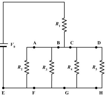 Solved: The Circuit To The Right Consists Of A Battery (V0