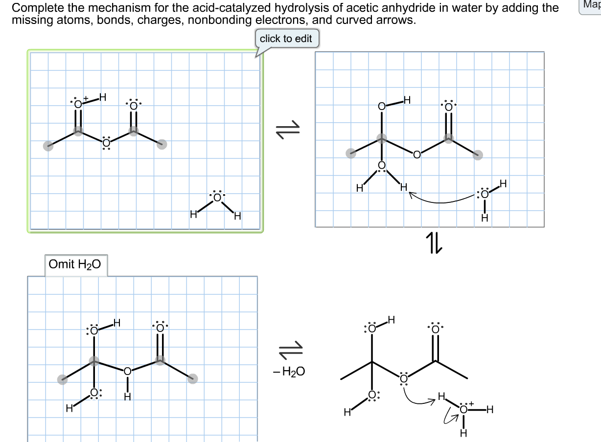 Solved Complete The Mechanism For The Acid Catalyzed Hydr