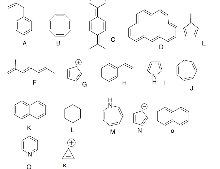 Solved: Look At The Given Molecules. Which Are Aromatic (s
