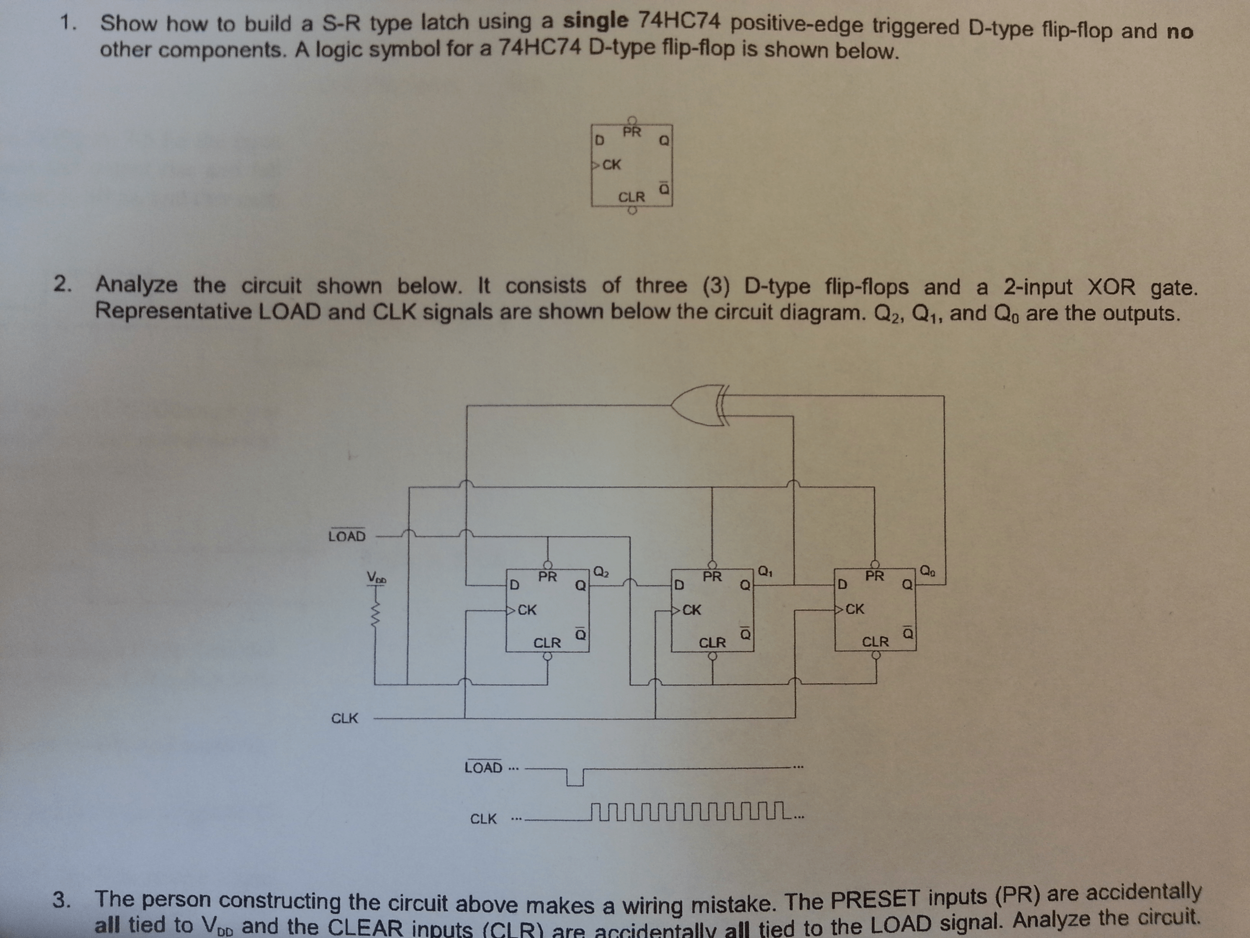 Flip Flop Likewise Or Gate Circuit Diagram On Xor Schematic Diagram