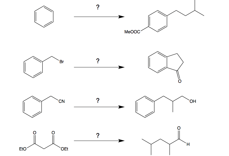 Solved: Organic Chemistry Synthesis Problems. What Are The