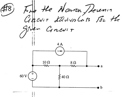 Solved: Find The Nortion And Thevenin Theorem Circuit Equi